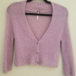 Free People orchid lavender mohair sweater